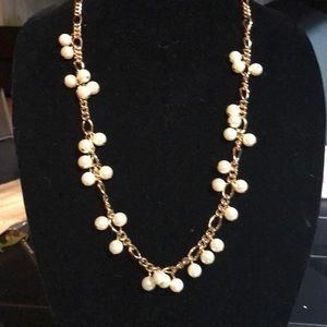 Jcrew gold tone pearl necklace
